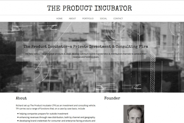 Diseño One Page The Product Incubator